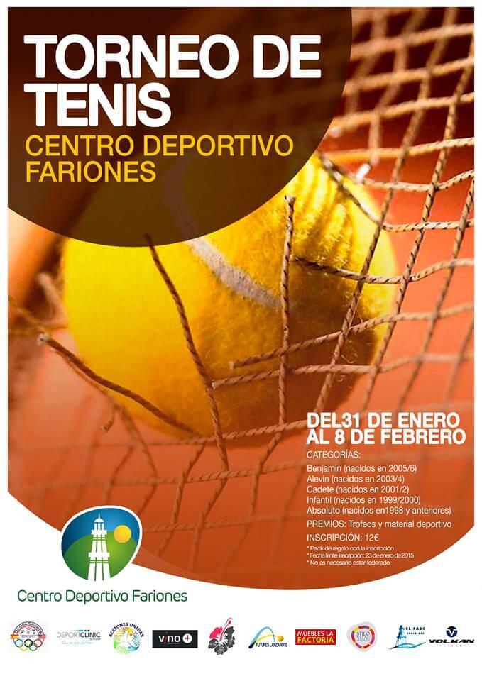 Torneo de tenis centro deportivo fariones.