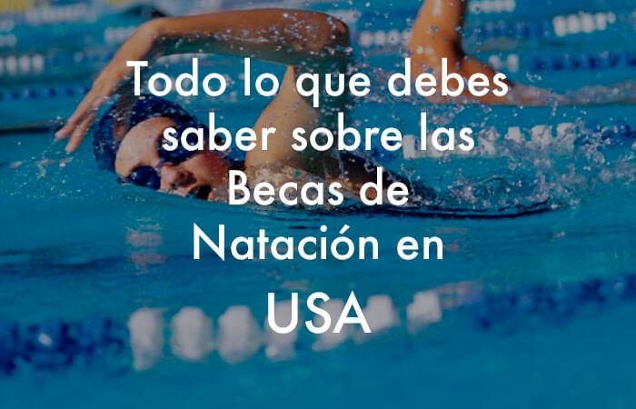 Becas de natación para universidades de Estados Unidos.