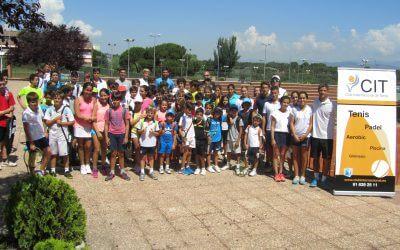 Segunda reunión del Open Castilla y León Villa de El Espinar para niños, celebrada en el Club Internacional de Tenis, en Majadahonda (Madrid).