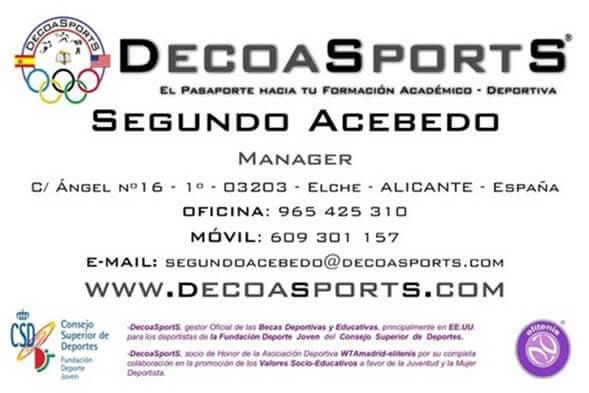 Segundo Acebedo Decoasports.