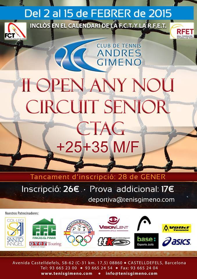 Torneo de tenis Andres Gimeno.