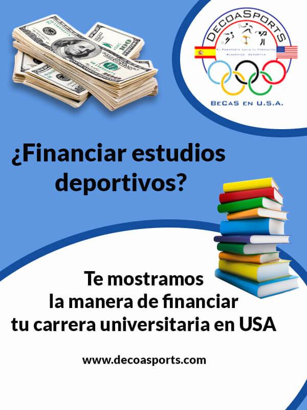 ¿Financiar estudios deportivos?
