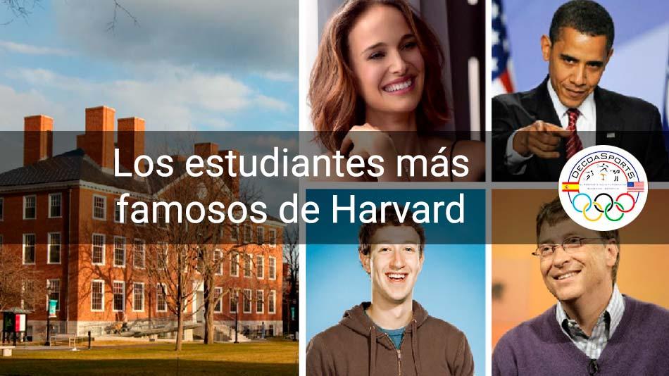 Los estudiantes más famosos de la Universidad de Harvard