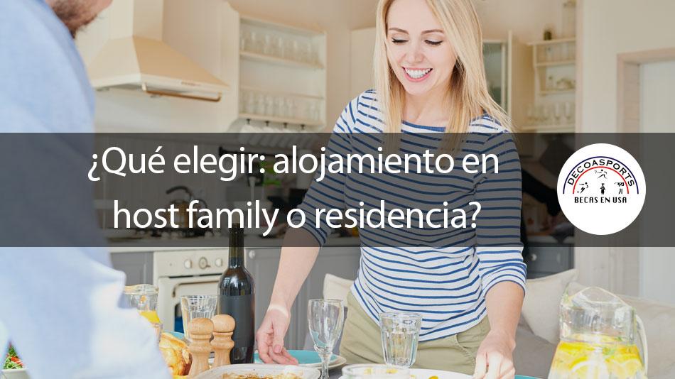 ¿Qué elegir: alojamiento en host family o residencia?